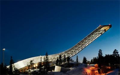 Night at Holmenkollen ski jump