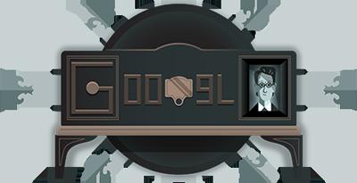 Google 機械式テレビ実演90周年を記念したロゴに!