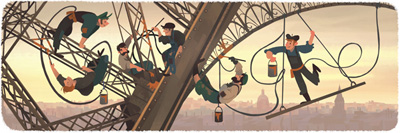 Google 126th anniversary of the public opening of the eiffel tower