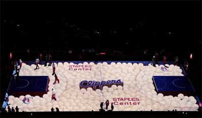 Clippers 3D Court Projection