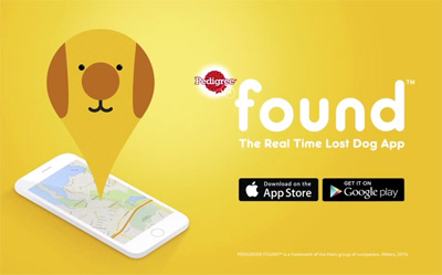 Pedigree Found - the real time lost dog app