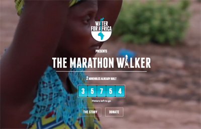 Water For Africa - The marathon walker