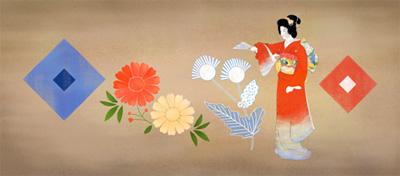 Google 日本画家の上村松園生誕140周年記念ロゴに!
