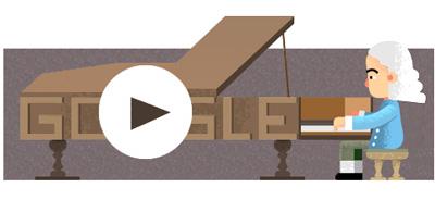 Google ピアノを発明したと言われるバルトロメオ・クリストフォリ生誕360周年記念ロゴに!