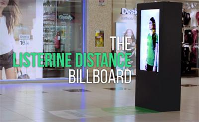 The Listerine Distance Billboard