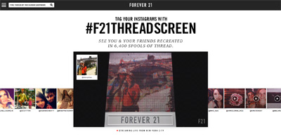Forever 21 Thread Screen