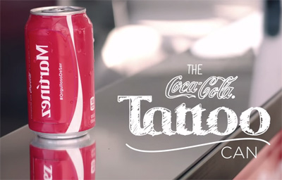 The Coca-Cola Tattoo Can