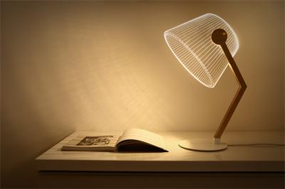 3D optical illusion lamp