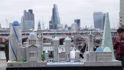 London Skyline Papercraft