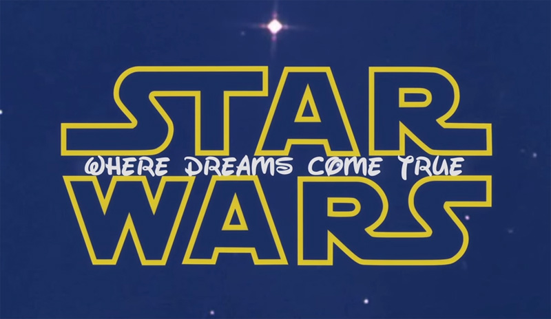 Star Wars: The Force Awakens - Disney Mashup