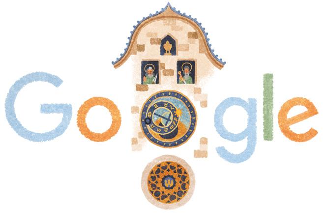 Google プラハの天文時計誕生605周年記念ロゴに!