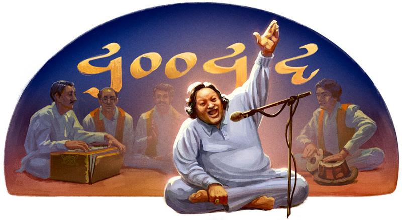 Google パキスタンの音楽家ヌスラト・ファテー・アリー・ハーン生誕67周年記念ロゴに!