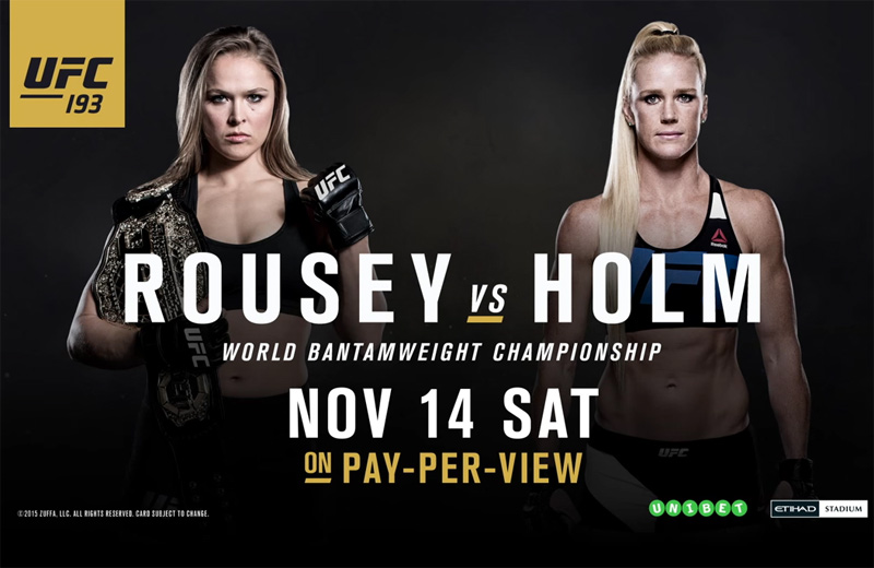 UFC 193 Ronda Rousey vs. Holly Holm - Revolution