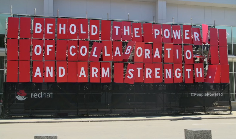 People-powered billboard
