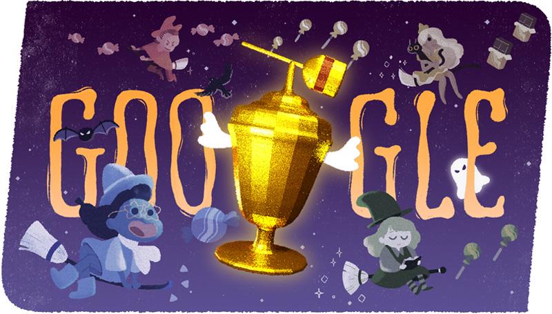 Google ハッピーハロウィン!2015キャンディー世界大会のゲームロゴに!