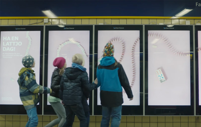 Playful IKEA ad in the subway of Stockholm