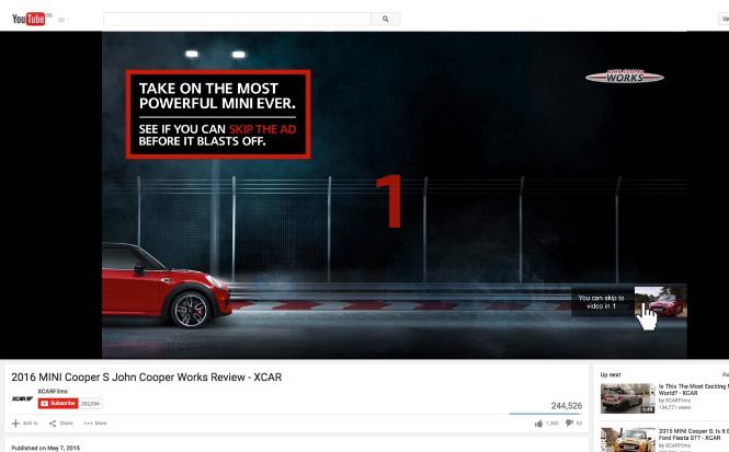 MINI John Cooper Works YouTube Race