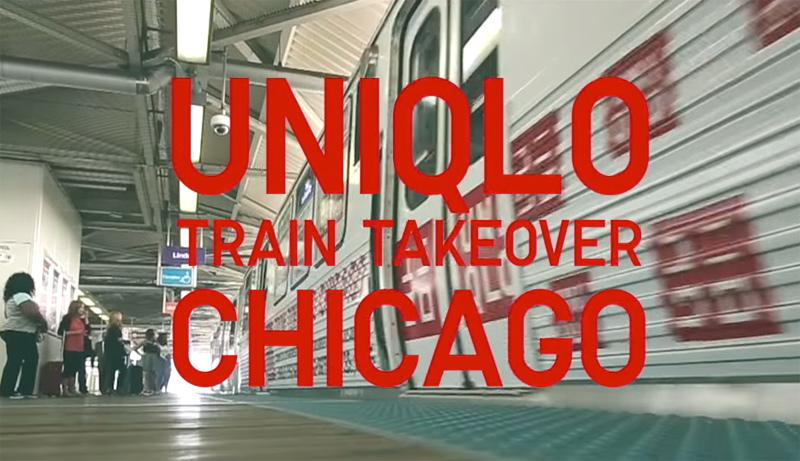 UNIQLO Chicago Train Takeover