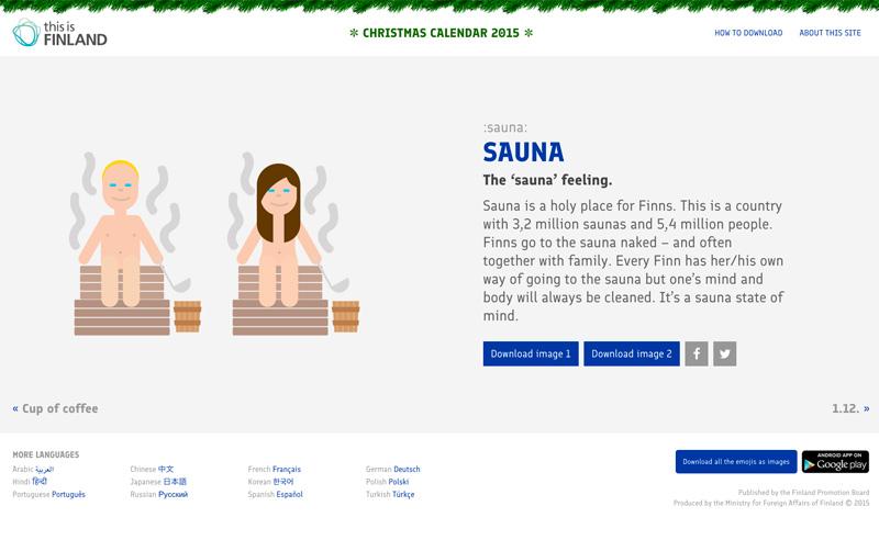 Christmas calendar 2015 - thisisFINLAND