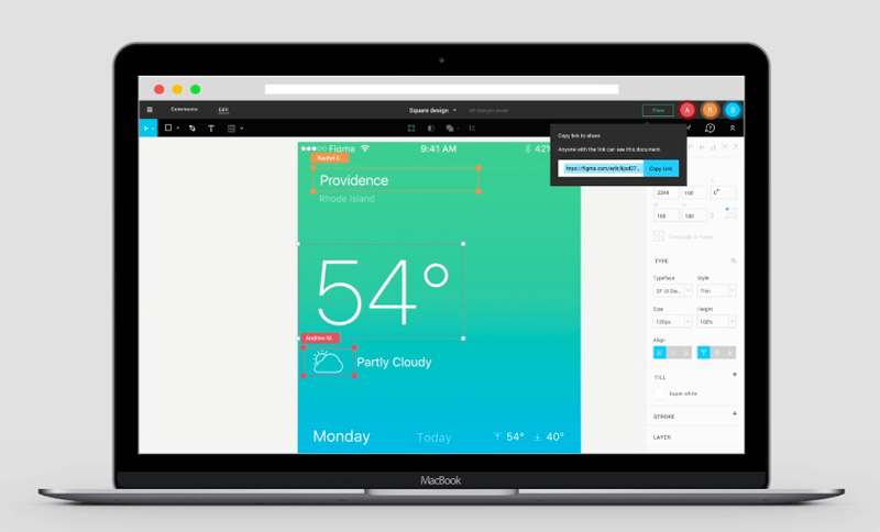Figma the collaborative interface design tool.