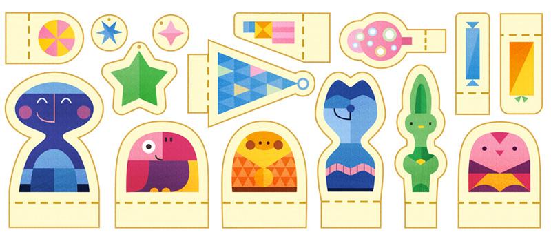 Google Holidays 2015(1日目)はペーパークラフトのロゴに!