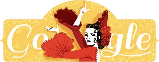 Google スペイン出身のダンサー ロラ・フローレス生誕93周年記念ロゴに!