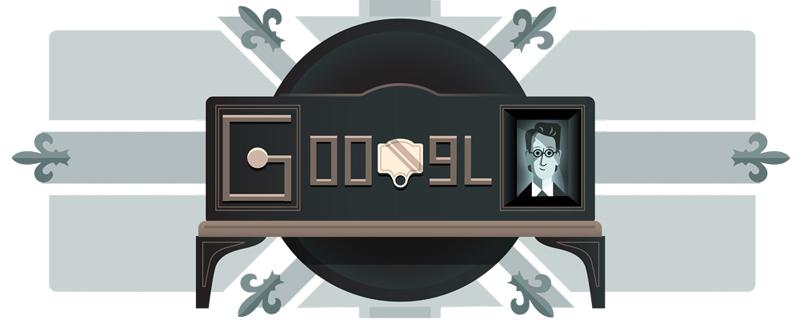 Google ジョン・ロジー・ベアードがテレビ送受信の世界初公開から90周年を記念したロゴに!