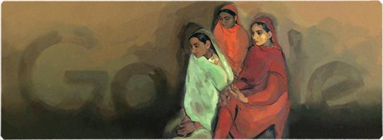 Google ハンガリー生まれのインド人画家アムリタ・シェール=ギル生誕103周年記念ロゴに!