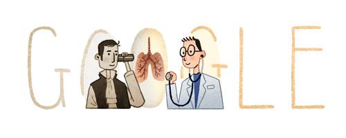 Google 聴診器を発明したフランスの医師ルネ・ラエンネック生誕235周年ロゴに!