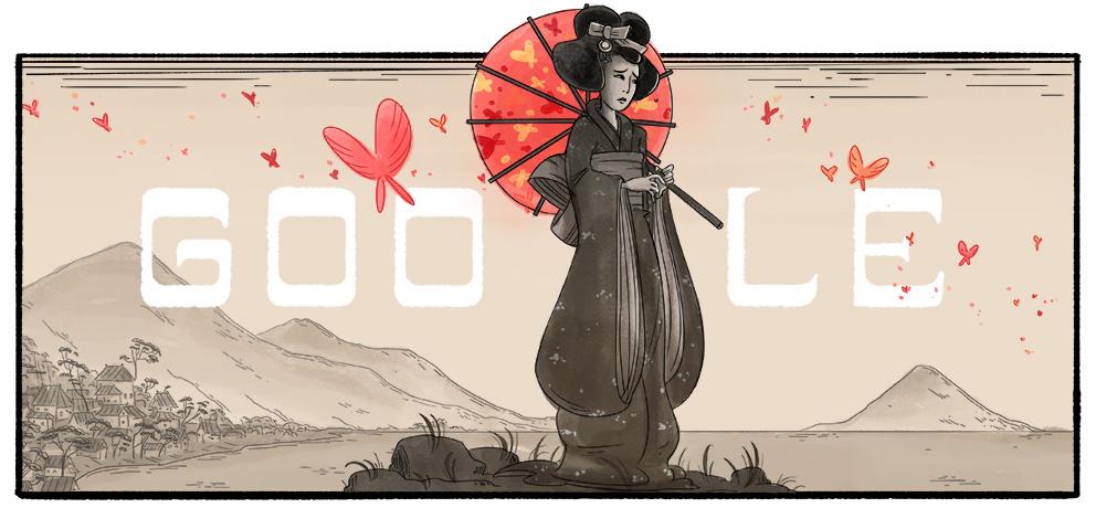 Google オペラ歌手の三浦環さん生誕132周年記念ロゴに!