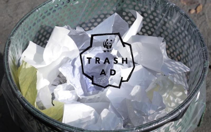 WWF TRASH AD