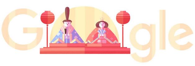 Google 関東雛の雛人形イラストで2016年のひな祭りをお祝い!