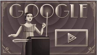 Google テルミン奏者クララ・ロックモア生誕105周年で、テルミン演奏ができるDoodleに!