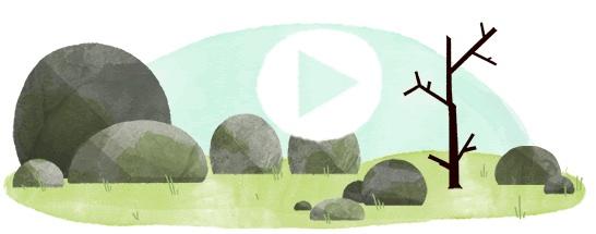 Google 3月20日は春分の日GIFアニメーションロゴに!