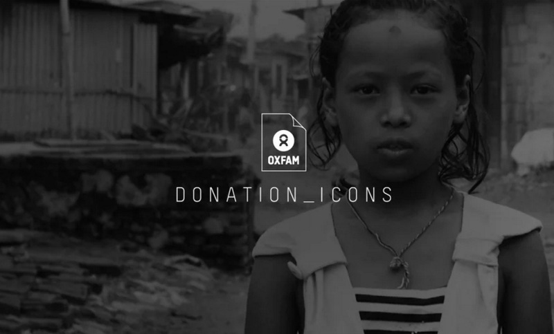 Oxfam Donations Icons