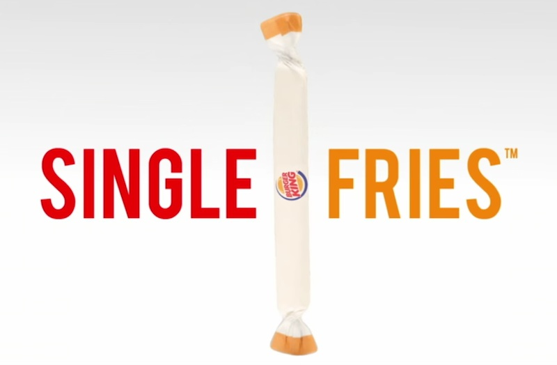 BURGER KING - SINGLE FRIES™ les frites à l'unité