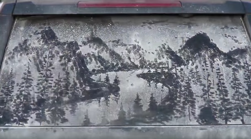 Beauty in Dirt, art experiment from Jeep