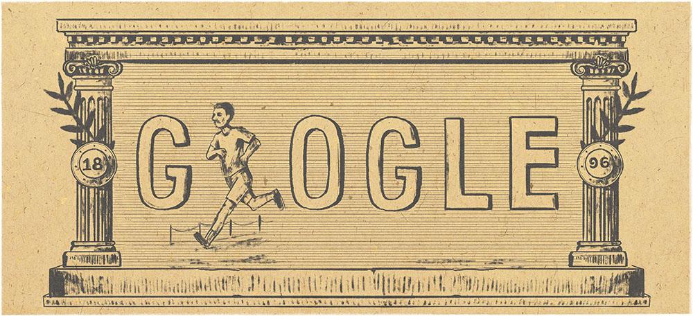 Google 近代オリンピック120周年でランダムに変わる競技ロゴに!