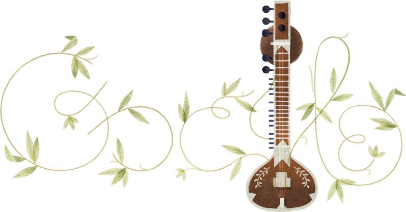 Google シタール奏者ラヴィ・シャンカル生誕96周年記念ロゴに!