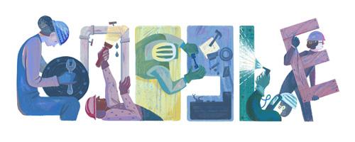 Google メーデー2016記念ロゴに!