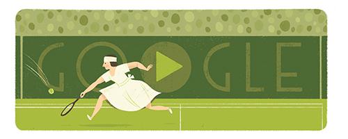 Google フランス出身のテニスプレイヤー、スザンヌ・ランラン生誕117周年記念ロゴに!