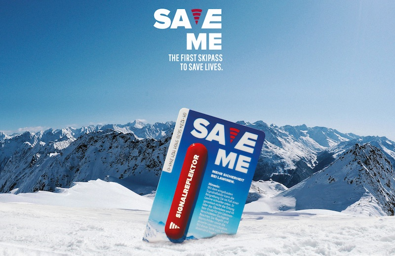 The first ski pass to save lives. | SaveMe