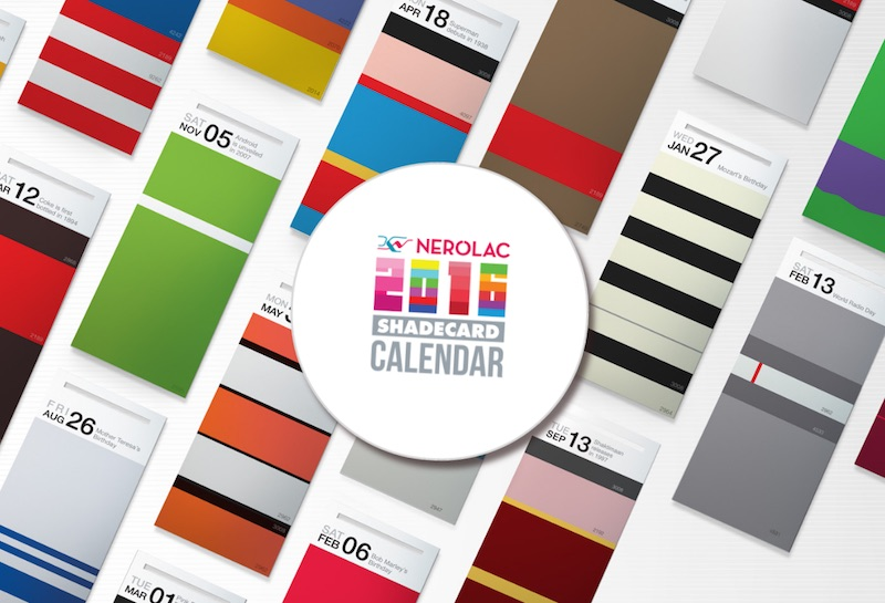 Nerolac Shadecard Calendar