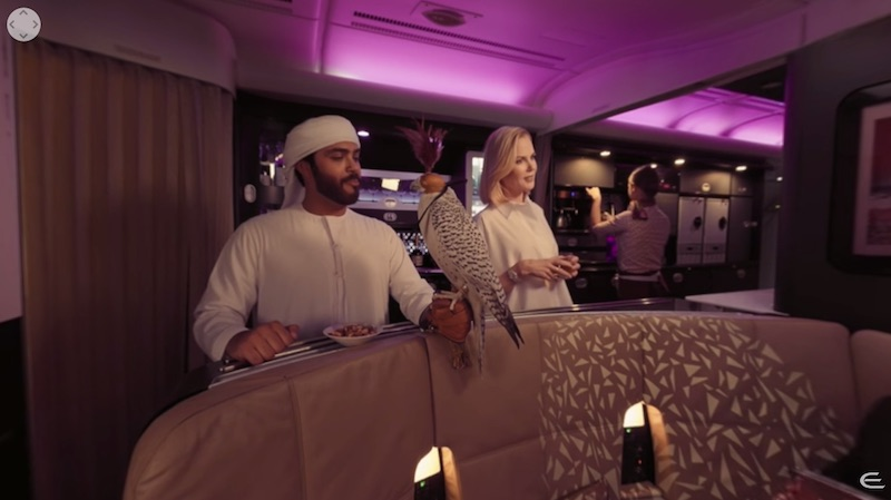 Etihad A380 Virtual Reality experience featuring Nicole Kidman