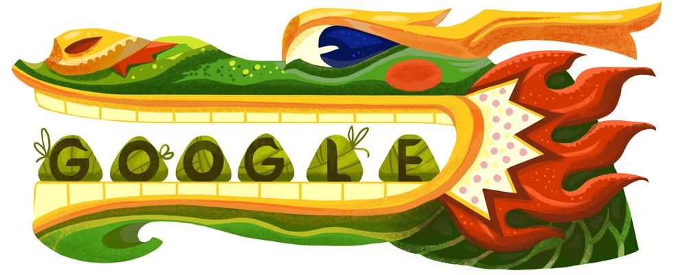 Google 端午節快樂!香港ドラゴンボートフェスティバルロゴに!
