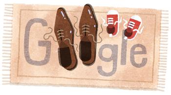 Google 父の日で父子の靴が並ぶイラストロゴに!