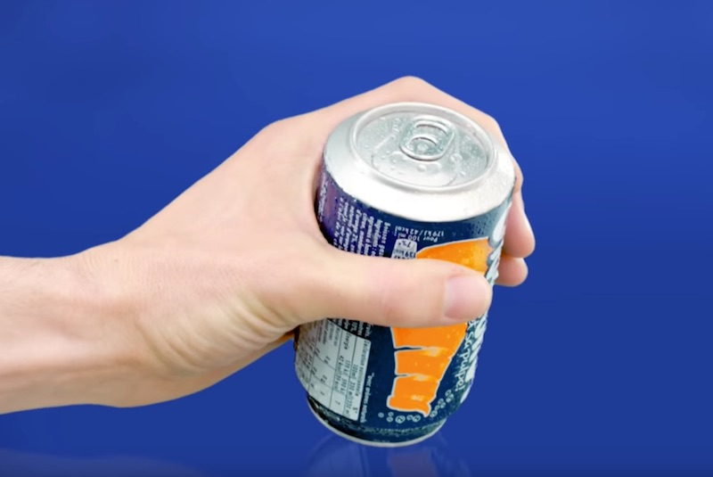 Orangina Upside Down Can