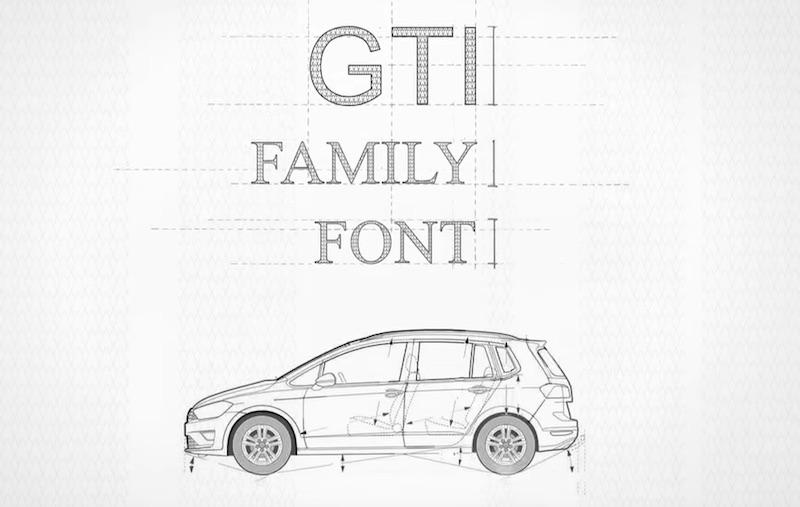 Volkswagen Gti Font