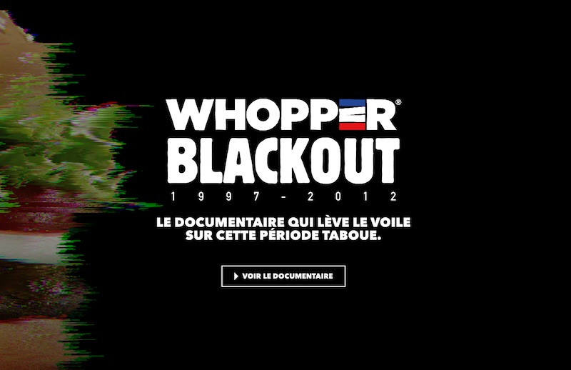 BURGER KING - WHOPPER BLACKOUT