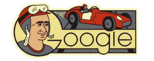Google アルゼンチン出身レーシングドライバーのファン・マヌエル・ファンジオ生誕105周年記念ロゴに!
